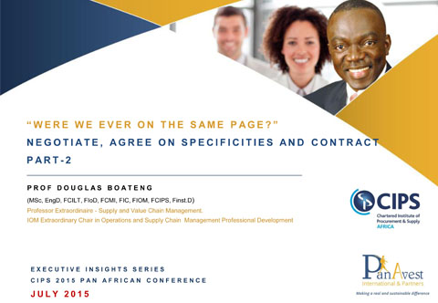 Negotiate, Agree On, Specificities And Contract Part 2