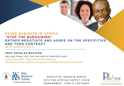 Prof Boateng at WITS Business School - Aug-15