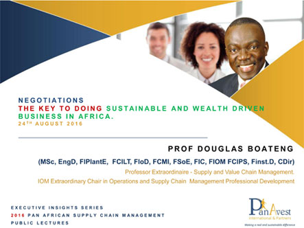 Negotiations & Doing business in Africa - WBS - AUG 2016